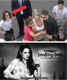 kristen protecting whats hers. damn right you do