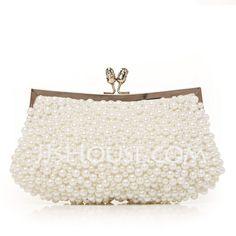 Handbags - $26.39 - Gorgeous Silk With Imitation Pearl Clutches (012012258) http://jjshouse.com/Gorgeous-Silk-With-Imitation-Pearl-Clutches-012012258-g12258