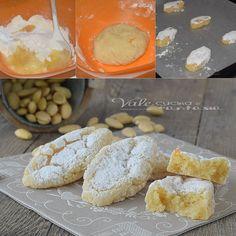 Christmas cookies with almonds - Ricciarelli di Siena ricetta biscotti alle mandorle per Natale