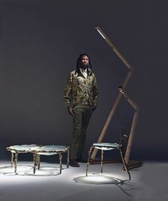 Atang & OKHA - A Trilogy Glass Furniture, Bespoke Furniture, London Sign, African Mythology, Steel Frame Construction, Glass Side Tables, South African Artists, Cape Town South Africa, Decoration