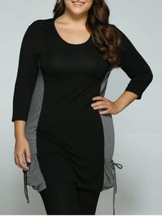 GET $50 NOW | Join RoseGal: Get YOUR $50 NOW!http://www.rosegal.com/plus-size-tops/plus-size-tie-pockets-long-blouse-732953.html?seid=6731702rg732953