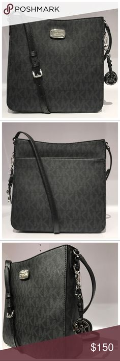 NWT MK Jet Set Large Messenger- Black NWT MICHAEL KORS PVC JET SET LARGE MESSENGER CROSSBODY BAG IN BLACK RETAIL $268 100% AUTHENTIC, NEW WITH TAG, & COME WITH CARE CARD  STYLE: 35T6GTVM2B Color: Black MK signature PVC w/ leather trim Silver tone hardware Mk Logo, Michael Kors Jet Set, 3 D, Dust Bag, Color Black, Handbags, Cross Body, Crossbody Bags, Leather