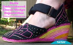 Crafty Lady Abby: SHOE DIY: Dritz Embroidered Floral Wedge Espadrilles