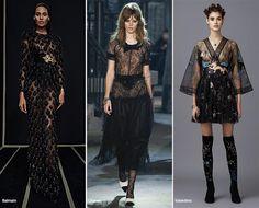 Pre-Fall 2016 Fashion Trends: Black & Sheer Clothing  #trends #fashion #fashiontrends