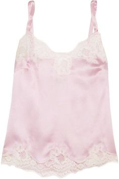2314931a1d DOLCE   GABBANA Lace-trimmed stretch silk-blend satin camisole Sleepwear  Sets