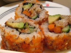 California Style Maki Rolls with Crab