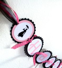 Mary Poppins Party Inspired Banner - birthday party