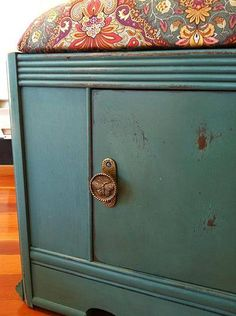 """ReVived Vintage Bench painted in Miss Mustard Seeds Milk Paint """"Kitchen Scale"""" Vintage Bench, Miss Mustard Seeds, Milk Paint, Kitchen Paint, Repurposed, Restoration, Vancouver Island, Inspired, Storage Ideas"""