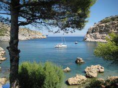 Plage à Rhodes, Grèce, Rhodes, Anthouny Quinns bay