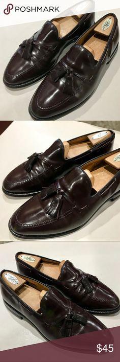 fc4455ca434 Allen Edmonds Grayson Tassel Loafers Size 9E Allen Edmonds Grayson Men s  Cordovan Color Leather Tassel Loafer