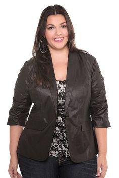f94884d3b5326 Torrid Plus Size Black Sparkle Blazer  51.98 Suit Jacket