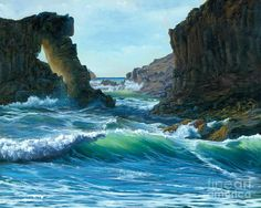 Letting The Ocean In Painting