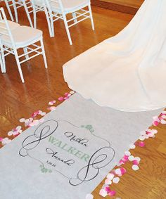 Wedding Personalized Aisle Runner