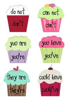 Cupcake Contraction Sort. Students can use this activity as an opportunity to learn what exactly contractions are. Art is used through choosing colors (warm/cool) to make their cupcake and designing it as they choose. Along with art students learn language arts and reading to learn what exactly each contraction is and using art to learn them. Grades 3rd to 5th can use this fun art activity.