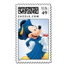 Mickey Graduation Postage Stamps