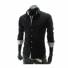 4 Colors 2013 Mens Korean Style Spring Pleated Neckline Long Sleeve Casual Dress Shirt: Amazon.co.uk: Clothing £9.99 + £10.80 = £20.79