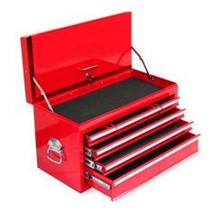 Excel 6 Drawer Tool Chest with Locking Cover Red - TB2050BBS-A-RED