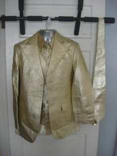 Mel B and Jimmy wedding suit.  The jacket is in good shape, there are some light stains on the inside (from drinks), The vest has more (Drinks), staining in it. The tie is clean, The pants have some stains as well.