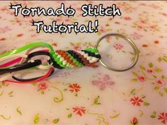Tornado Stitch Tutorial~Gimp/Craft Lace/Boondoggle