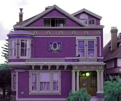 Purple house- the only thing it doesn't have is a wrap around porch. ;) @Danielle Lampert Michelle