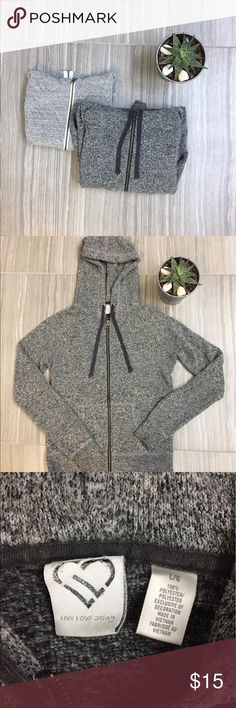 Bundle: Aeropostale zip up hoodies in grey Dark grey- Aeropostale dark grey hoodie with zip up front and ribbing on cuffs and bottom of jacket. Thick material jacket with draw string hood. Size L                                                                                       Light grey- Aeropostale light grey jacket with zip up front. Made out of a light fabric and size L Aeropostale Jackets & Coats