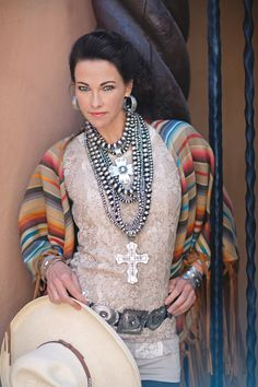 Home page for jewelry designer Rocki Gorman and the Rocki Gorman jewelry and clothing boutique Santa Fe, New Mexico. Country Fashion, Boho Fashion, Fashion Design, Cowgirl Fashion, Fashion Details, Cowgirl Chic, Cowgirl Style, Western Style, Western Outfits