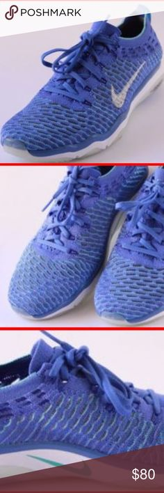 489f781f934c NIKE AIR ZOOM FEARLESS FLYKNIT BLUE RUNNING Sz 11