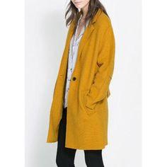 Manteau femme lâche en laine polyamide avec ceinture