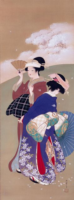 上村松園 「桜可里」 大正中期 ウッドワン美術館
