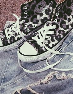 Leopard Print Converse High Tops these are so cute!!!