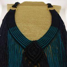 Hoy les presentamos una de las piezas de la colección PACÍFICO ANCESTRAL. Muy pronto descubrirán el misterioso mundo de la comunidad TUMACO-LA TOLITA  .  .  .  .  .  .  .  .  .  .  .  .  .  .  .  .  .  .  .  #statementpiece #macramé #macrame #hechoamano #macrameart Macramé Art, Knot Braid, Knots, Macrame, Crochet Necklace, Braids, Instagram, Fashion, World