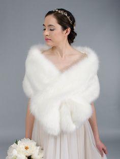 faux fur wrap, faux fur stole, faux fur shawl and faux fur bolero Wedding Shrug, Bridal Shrug, Wedding Fur, Wedding Ideas, Wedding Bells, Wedding Table, Wedding Decorations, Faux Fur Wrap, Pink Faux Fur
