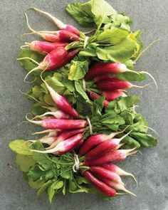 Radishes come in a wide range of shapes, sizes, colors, and flavors. They can be the size of a hazelnut or a carrot, and range in color from bold reds, pinks, and purples to starker white and black.In Season: Radishes are available year-round, but are at their peak from April through July.What to Look For: Choose those that are plump, firm, smooth, and free of cracks and blemishes. If you plan on serving radishes raw as a snack, buy them with the leaves still attached; they should be b...