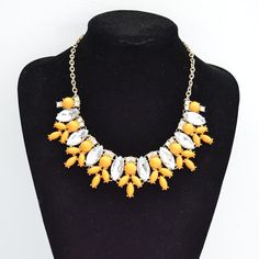 Daisy crystal necklace Daisy crystal statement by shop2lopez, $9.49