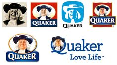 The Quaker Oates man appears to have grown younger through time...