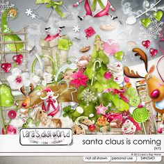 "Santa Claus is coming by Lara's Digi World  ""Available   Pickleberry Pop : https://www.pickleberrypop.com/shop/manufacturers.php?manufacturerid=46 & The Digital Scrapbooking Studio: https://www.digitalscrapbookingstudio.com/store/index.php?main_page=index=13_76  """