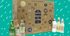 This gin and tonic advent calendar comes with a full-sized bottle of gin Merry Ginmas! This gin and tonic advent calendar comes with a full-sized bottle of ginredmagazine Merry Ginmas! This gin an Craft Beer Advent Calendar, Star Wars Advent Calendar, Chocolate Advent Calendar, Diy Calendar, Advent Calendars, Mini Wine Bottles, Gin Bottles, Alcohol Shop