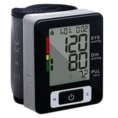 Wrist Blood Pressure Monitor Preup Fully Automatic Wrist Blood Pressure Cuff MonitorCuff FDA Approved with Auto Off IHB and WHO Indicator 2x90 Memory 2 Users ModeBlack2017 New Version >>> You can get additional details at the image link.