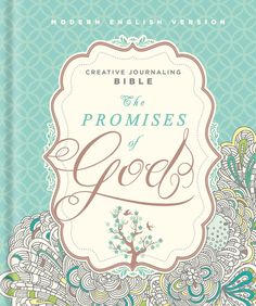 The Promises of God Creative Journaling Bible is a double-column, wide margin, Hardcover Bible in the beautiful Modern English Version translation.  This unique