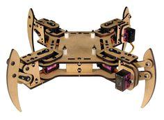 SWMAKER DIY mePed v2 Четвероногое Шагающего Робота-Базовый Комплект деревянные palte + Metal Gear Сервоприводы + винты/гайки комплект