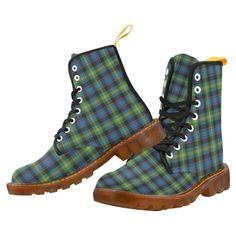 Tartan Boot – MacFarlane Hunting Modern Martin Boot – Your Tartan Clan Macdonald, Floral Combat Boots, Large Leather Tote Bag, Martin Boots, Timberland Boots, Tartan, Hunting, Lace Up, Shoes