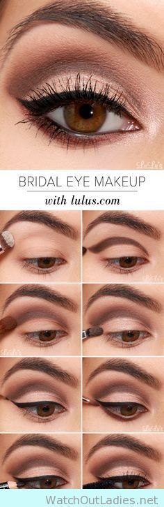 Bridal eye make up in nude color (Baking Face Tutorial)