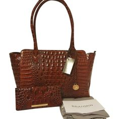 Pre-owned Brahmin Ashby And Ady Wallet Pecan Tote Bag (505 CAD) ❤ liked on…