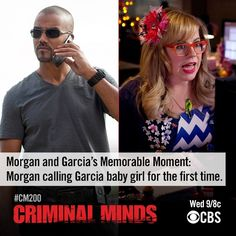 Prior to CM celebrating its 200th episode, the show looks back at some it's most memorable moments. There is NO better connection on the show than these two- Morgan and his baby girl!