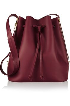 Sophie Hulme | Extendable matte-leather bucket bag | NET-A-PORTER.COM