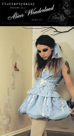 blue alice in wonderland dress and corset belt from: flutterbydaisy