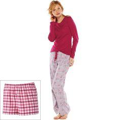 NWT Ladies SONOMA life+style Pajamas: 3-pc Printed Flannel Pajama Gift Set -Med #SONOMAlifestyle #PajamaSets
