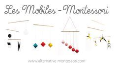Discover all Montessori mobiles – Tutorial + Free Patron! Mobile of Munari, Mobile of the octahedrons, Mobile of Gobbi, Mobile of the dancers www. Mobile Montessori, Montessori Education, Montessori Toddler, Maria Montessori, Montessori Activities, Infant Activities, Diy Bebe, Wishes For Baby, Play To Learn