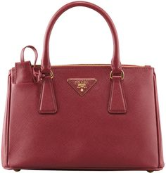 $1,850, Burgundy Leather Tote Bag: Prada Mini Saffiano Lux Tote Bag Wine. Sold by Neiman Marcus. Click for more info: https://lookastic.com/women/shop_items/278564/redirect