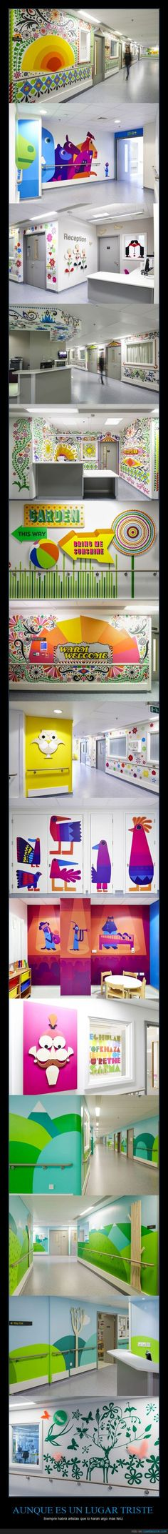 Decorando un hospital infantil en Londres